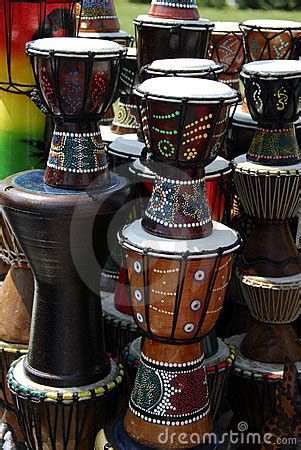 african art  drums royalty  stock photography