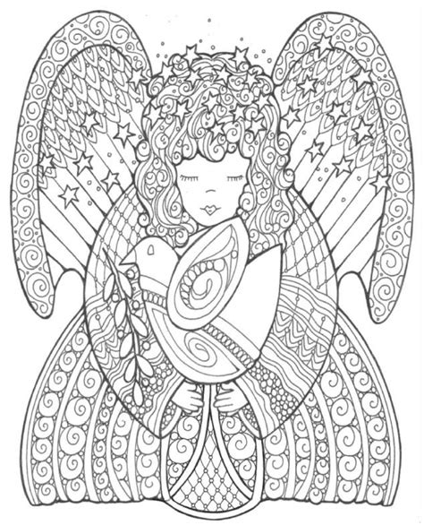 google printable christmas adult ornaments celestial of peace coloring page favecrafts