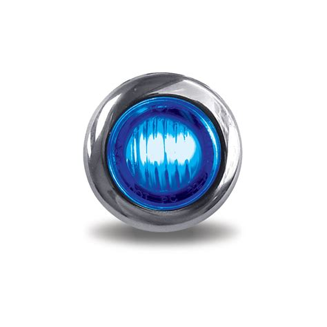 mini button dual revolution marker led amber blue  diodes