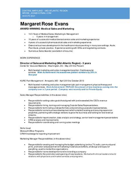 marketing resume sles 2013 sales and marketing resume
