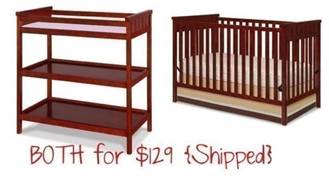 Delta Crib And Changing Table Delta Cherry Crib And Bonus Changing Table 129 Shipped Reg 220