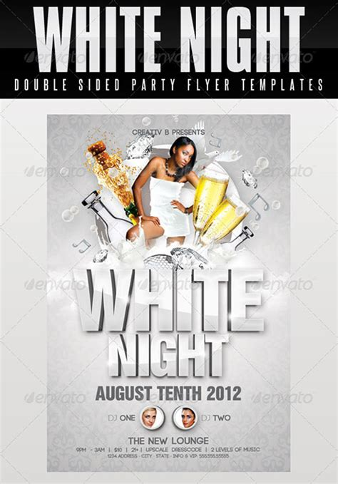 template flyer white party 20 all white party flyer template psd images all white