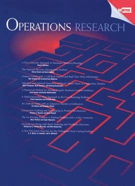 Operation Research Letter Journal 11 best images about publications worth reading on
