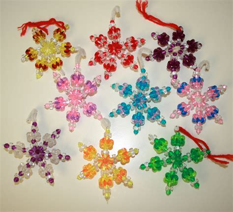 Handmade Ornaments - vintage handmade beaded ornaments