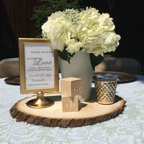 baby block centerpieces mint green gold lace vintage baby shower hydrangea