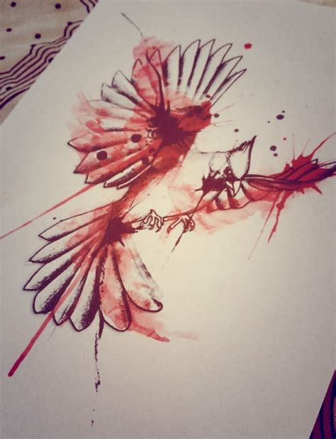 cardinal bird watercolor tattoo design designs pinterest