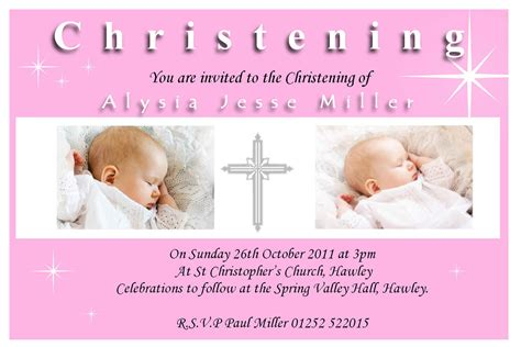 Baptism Invitation Baptism Invitation Template New Invitation Cards New Invitation Cards Christening Invite Template