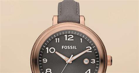 Jam Tangan Wanita Fossil Es4162 Gazer Sand Leather Original jam tangan wanita fossil type am4393