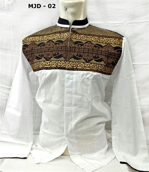 Bordir Merk Baju baju koko putih lengan panjang model terbaru bordir batik merk majidah busanamuslimpria