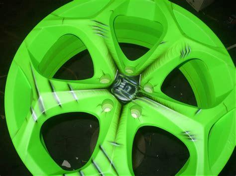 custom racing wheel car airbrush paint car modification 2011