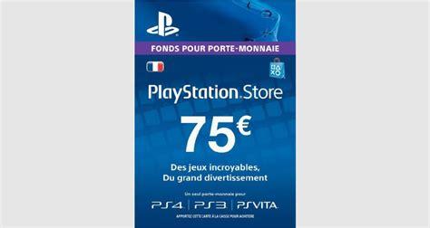 Ps4 Carte by Psn Card 75 Euros Ps4 Ps3 Ps Vita Ps3