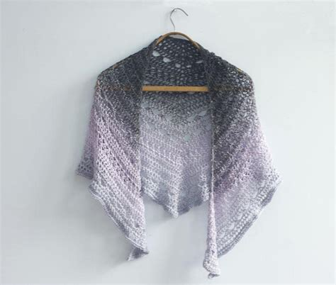 lace triangle shawl crochet pattern  judith stalus