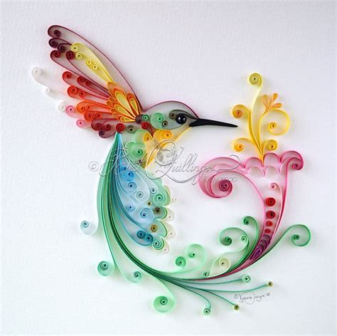 Modern Quilling Vorlagen Original Quilling Quot Bird Of Happiness Quot Framed Colorful Paper Wall And Deco Home