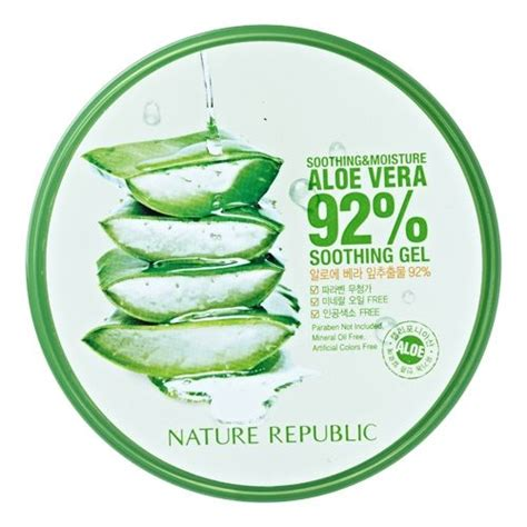 Nature Republic Aloe Vera Soothing Gel For Acne nature republic soothing moisture aloe vera 92 soothing