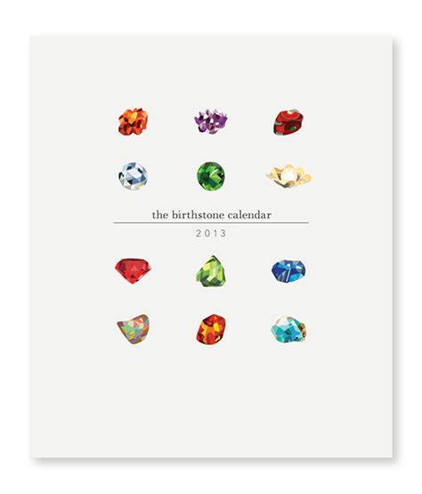 Birthstone Calendar The Birthstone Calendar On Behance