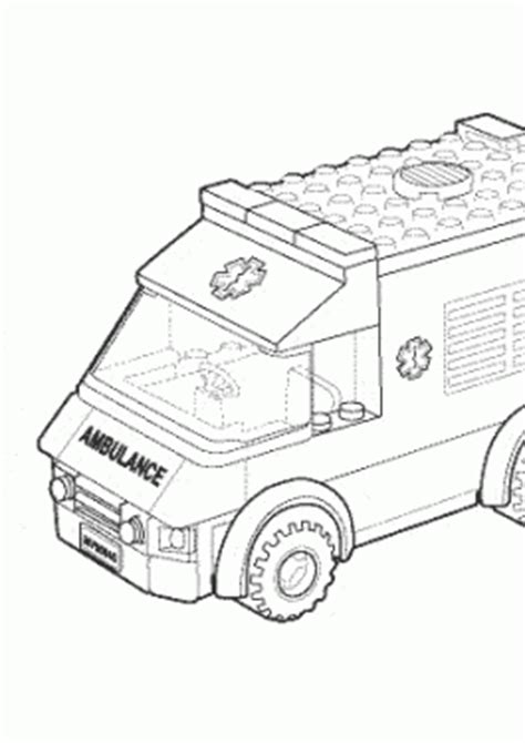 lego ambulance coloring pages lego coloring pages for kids to print and color