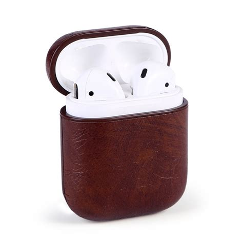 high quality genuine leather case  airpods vintage