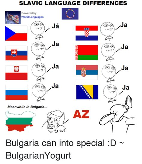 Russian Language Meme - slavic language differences powered by world languages ja
