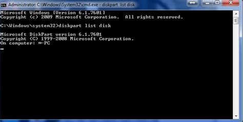 diskpart format does not work partitioning programs including diskpart not working