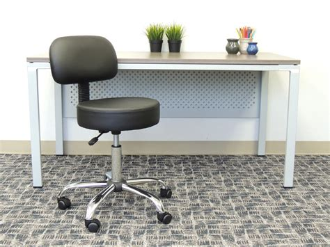 Black Caressoft Stool W Back by Caressoft Stool W Back Cushion B245 New