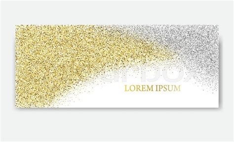 header card design template horizontal gold and silver banners greeting card design