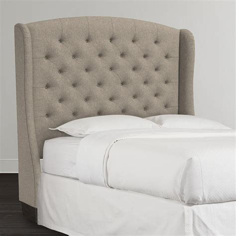 Winged Upholstered Headboard by Winged Headboard Curley Shape Wingback Headboard Is