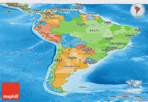 political and physical map of south america political and physical map of south america america map