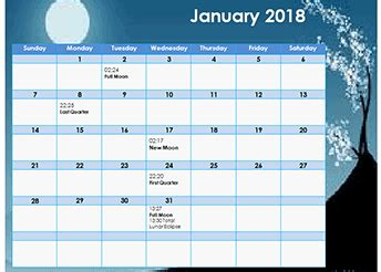 moon phases calendar  lunar calendar   time zone