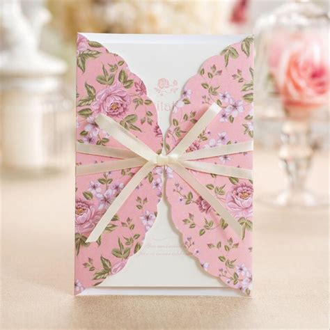 Cheap Pink Wedding Invitations by Get Cheap Pink Wedding Invitations Aliexpress