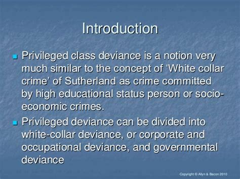 Mba Economic Crime And Fraud Management by Privileged Class Deviance Concept Nature