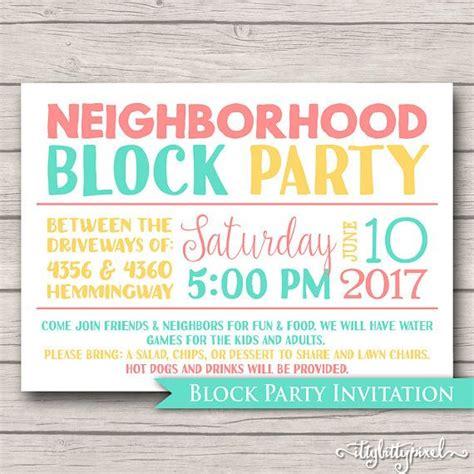 block invitation template free neighborhood block invitation announcement invite