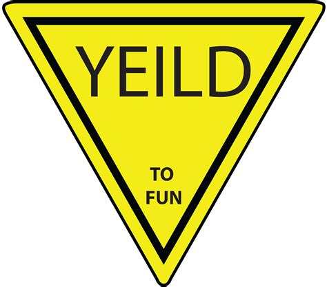 best yield yellow yield sign clipart best