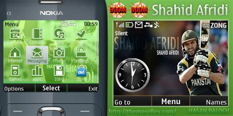 themes for nokia x2 02 themereflex shahid afridi theme for nokia c3 x2 01 themereflex