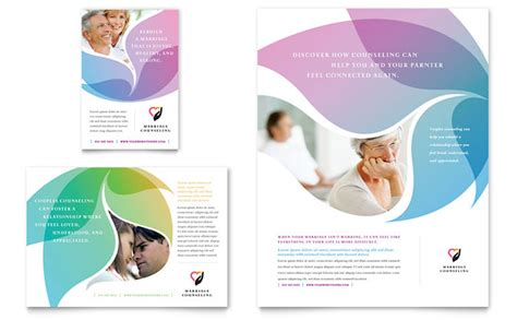 free design templates for advertising marriage counseling flyer ad template design