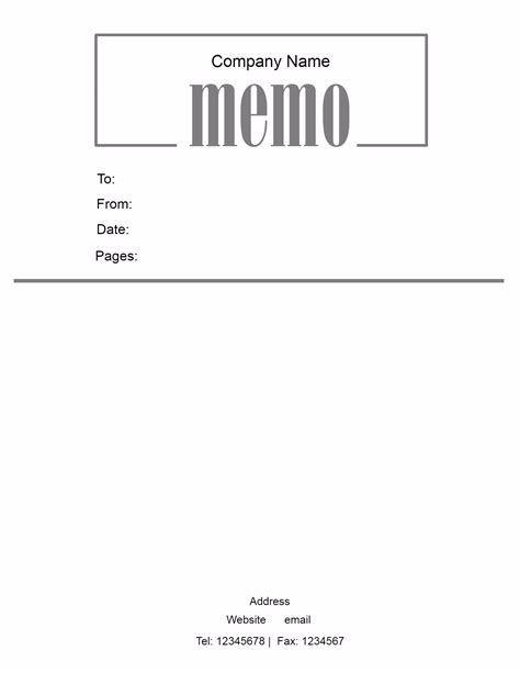 Free Memo Template by Free Microsoft Word Memo Template