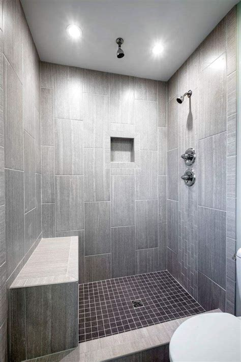 Bathroom Tiled Showers Ideas by Leonia Silver Tile From Lowes Tiled Shower Bathroom