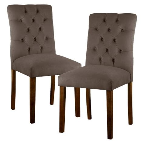 brookline tufted dining chair threshold brookline tufted velvet dining chair set of 2 ebay