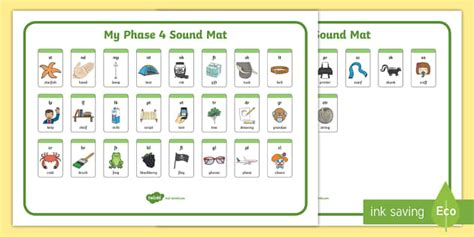Phase 4 Sound Mat by Blends And Clusters Sound Mat Sound Mat Letters And Sounds
