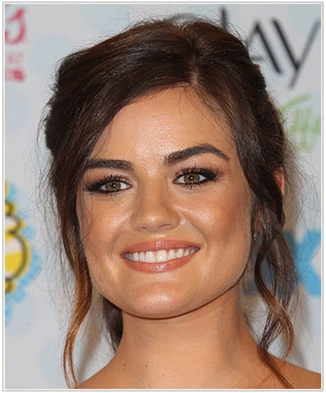 pictures of bob haircuts for pear shaped face lucy hale hairstyles for a triangular or pear face shape