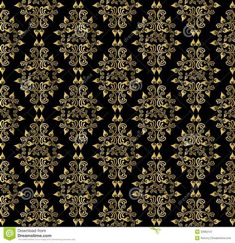 gold pattern on black background black and gold victorian wallpaper www pixshark com