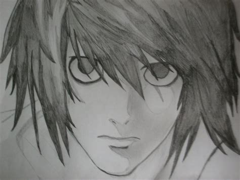 l lawliet deathnote drawing by kindacravinshortcake on