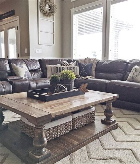 living room with leather sofa 25 best ideas about brown couch decor on pinterest