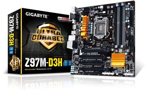 Motherboard Gigabyte Ga Z97m D3h Z97 4x Ddr3 Vgam Atx 1150 So ga z97m d3h lga1150 micro atx motherboard
