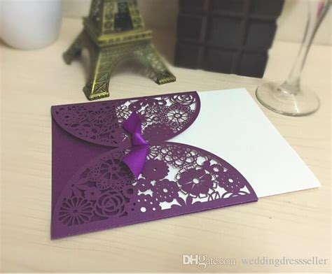 Cheap Purple Wedding Invitations by Wedding Invitations Purple Chatterzoom
