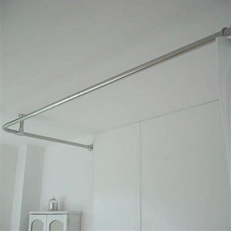 corner bath shower rail croydex l shaped telescopic chrome corner shower or bath curtain rail