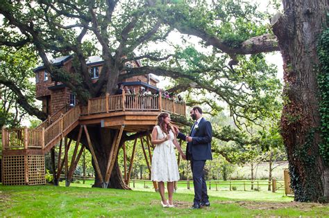 treehouse wedding venue west uk i do ooo ooh monkey expert gets married in a tree house