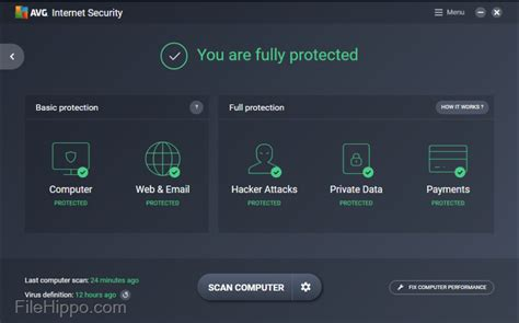avg security unlimited filehippo