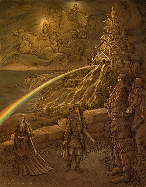 Midgard And Middle Earth bifrost the rainbow bridge from our world midg 229 rd