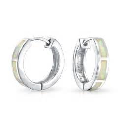 hoop huggie bling jewelry 925 sterling silver inlaid synthetic opal huggie hoop earrings ebay
