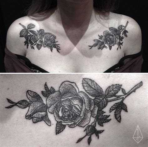 rose chest tattoos tumblr chest tattoos for roses www pixshark images
